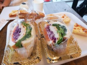 Vegetable sandwich of the sunny side cafe in Nishinomiya